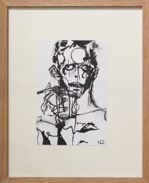 """Ziggy"" (ink paper, 2015 - art, drawing - johannbaerenklau | ello"
