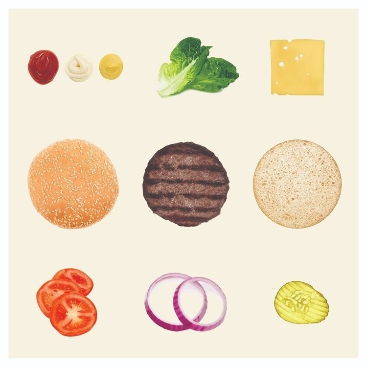collection burger PAINTINGS fea - psthatsme | ello