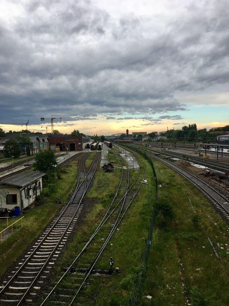 Train treks sunset Berlin - maxpolwin | ello
