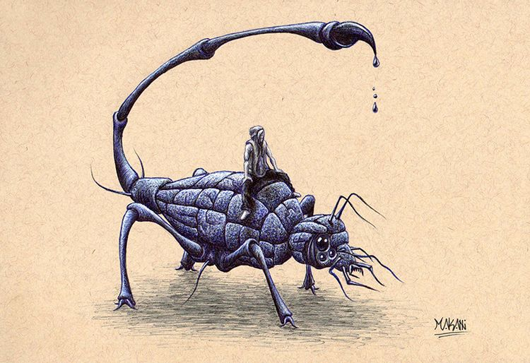 Series: Insect Invasion drawing - makanicreative | ello