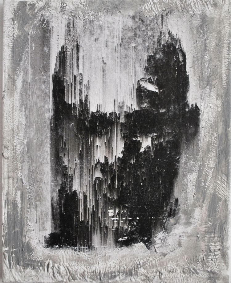 Burning ego 24x30 mixed media - abstract - elfelo | ello