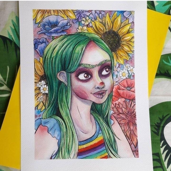 fun! mixture watercolour, pens  - sarahlouillustrator | ello
