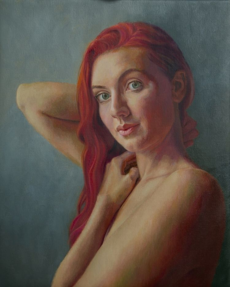 Portrait Young Woman Red Hair,  - mikebrewerart | ello
