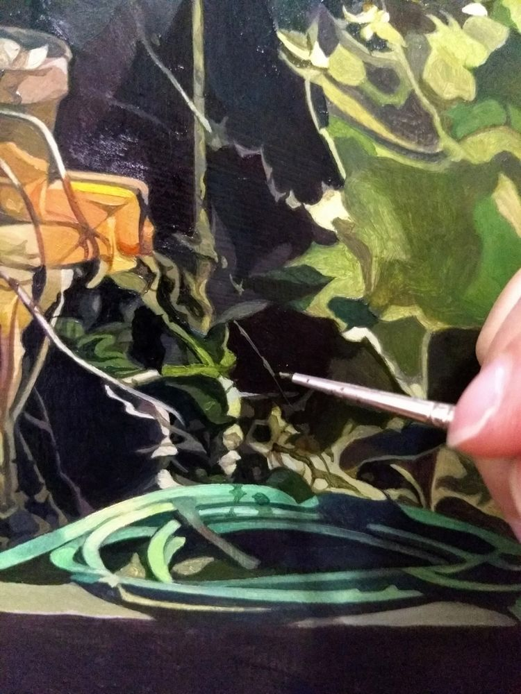 Patiently painting tiny twigs v - enelojial | ello