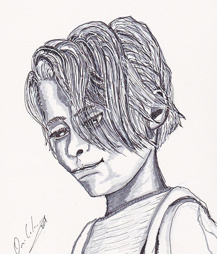 portrait, ink, drawing - orich | ello