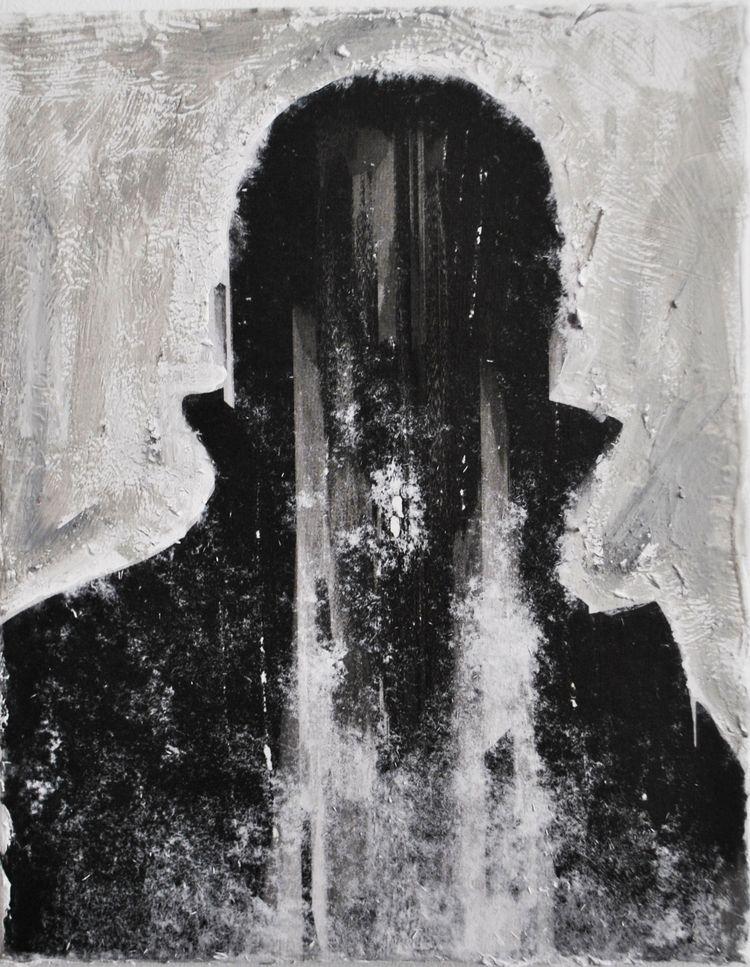 Darkened figure 20 25 Mixed med - elfelo | ello