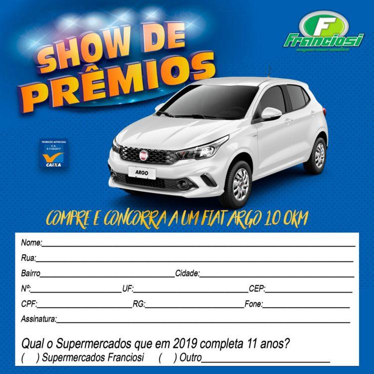 Cupom Promoção Show de Prêmios - izamathias | ello