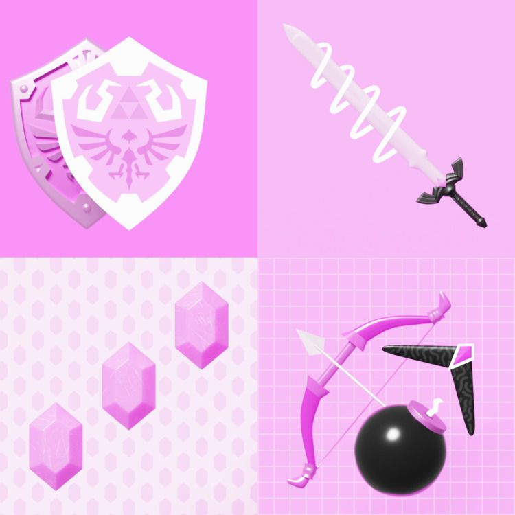 Abstract Pink 3 - zelda - kohlewrrk | ello