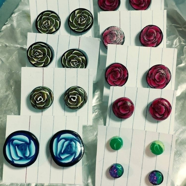 earrings - polymerclay - kayteeart79 | ello