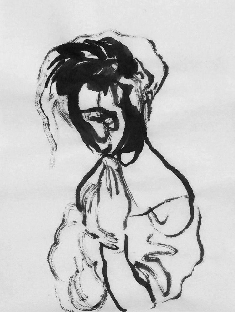 ink, sketch, portrait - mlui | ello