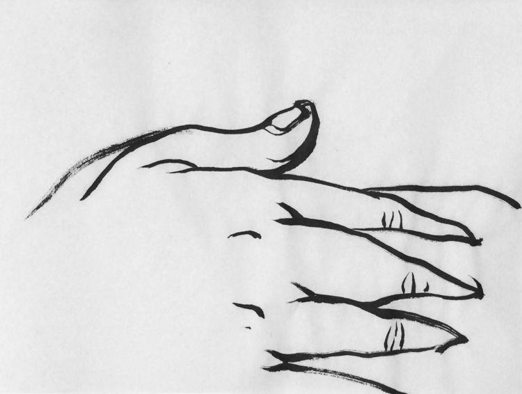 ink, sketch, lock, fingers - mlui | ello