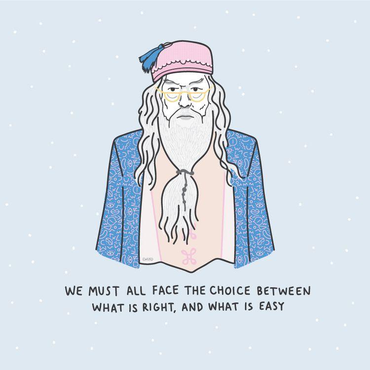 Albus Dumbledore - harrypotter, albusdumbledore - elizathewiz | ello