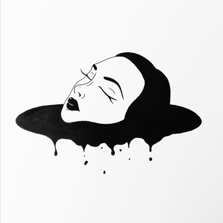 Sinking - drawing, draw, drawdaily - slimchancepress | ello