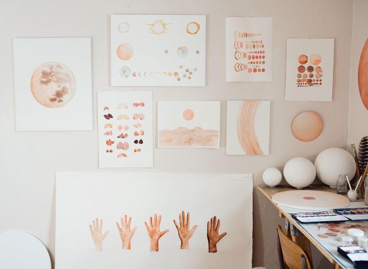 Studio visit Artist Stella Mari - madelife | ello