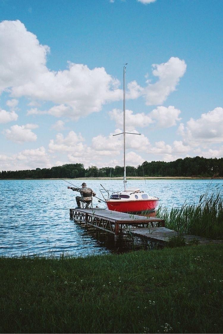 dock fishing - Poland, LakePowidz - hippieography   ello