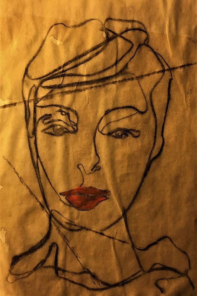 Loulou ///// oil charcoal coffe - guiart | ello