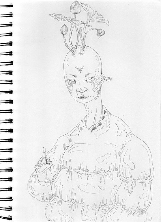 art, illustration, drawing, lotus - linsshit | ello