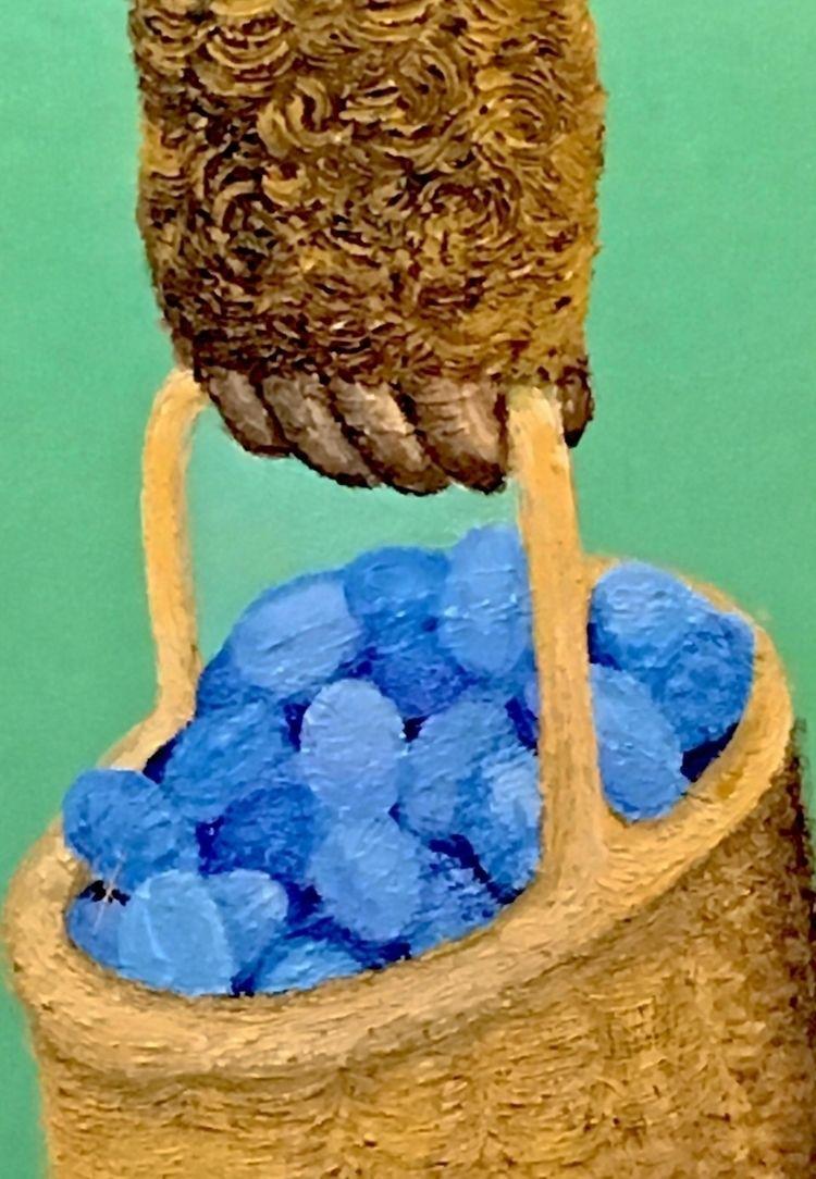 Basket Eggs March 2018 Acrylic  - yocalvi   ello