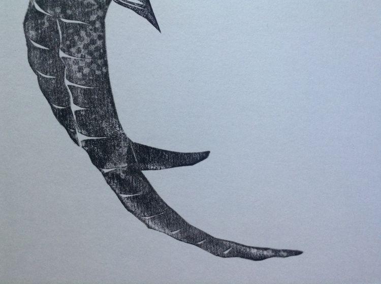 Piece horn - Linocut, Lino, print - maler_malyar | ello