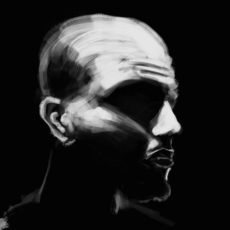 20 mins sketch - dark, portrait - cjburgos | ello