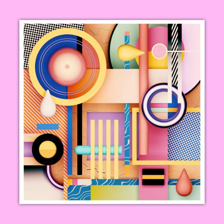 b3D, 3D, abstract, digitalart - ikyste | ello