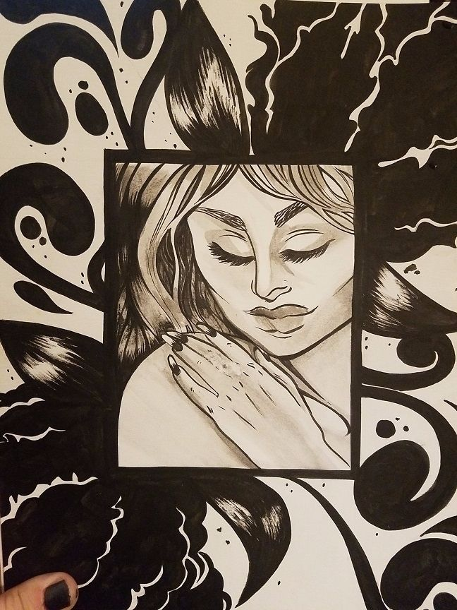 paisley, ink, inktober, inktober2016 - ehnason | ello