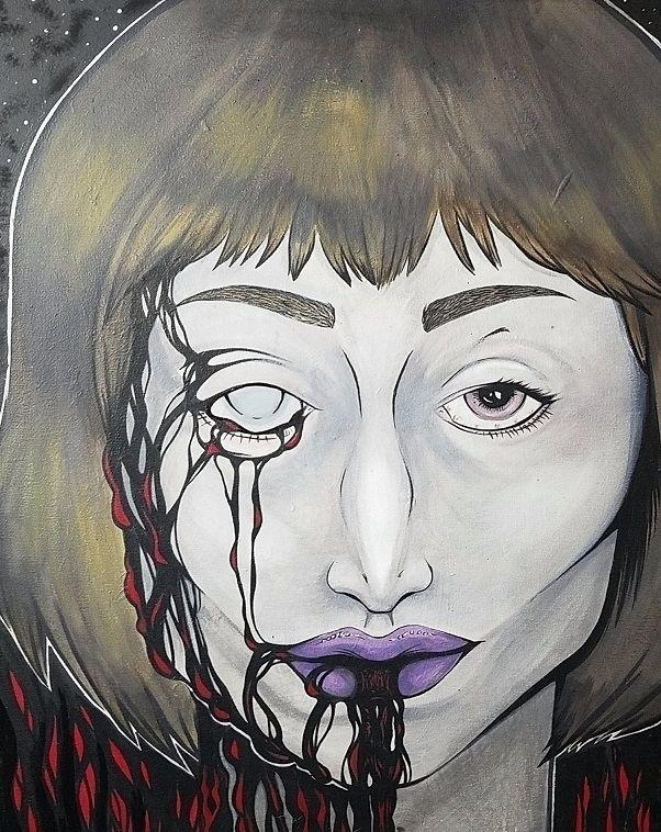 oracle, painting, acrylic, sold - ehnason | ello