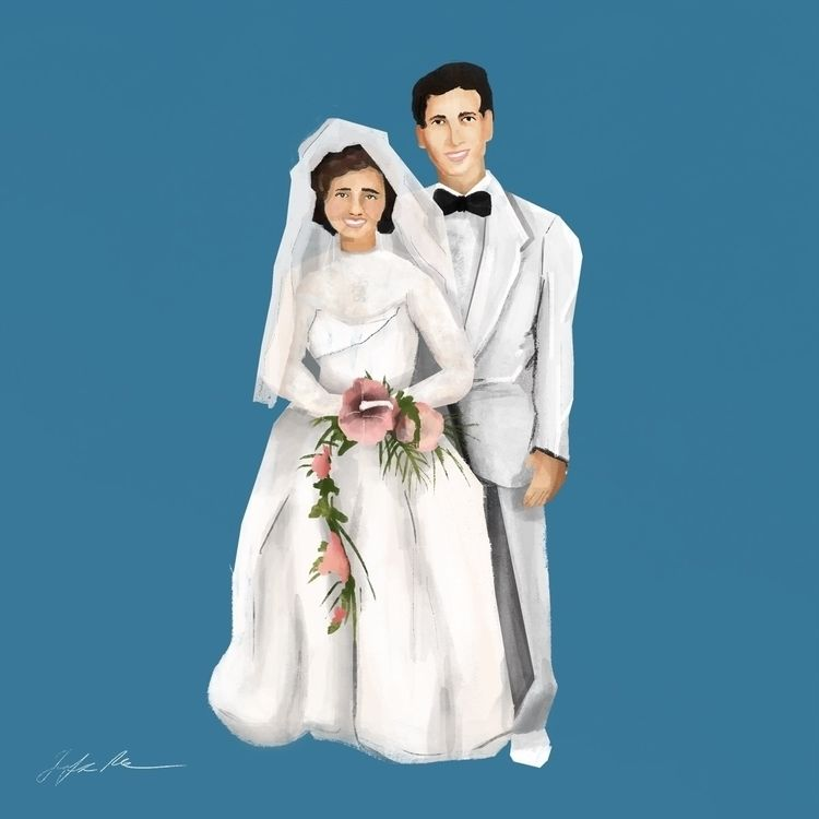 grandparent wedding illustrated - jenifferrivera | ello