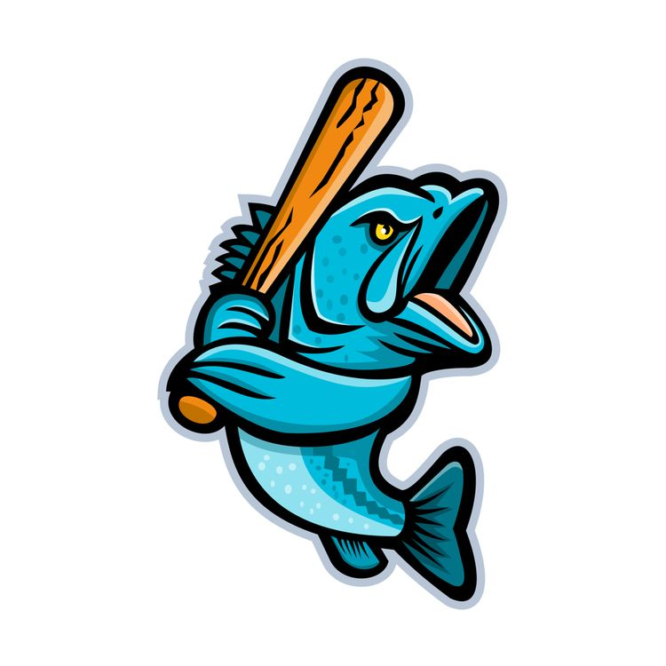 Largemouth Bass Baseball Mascot - patrimonio | ello