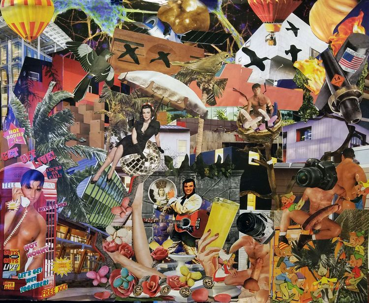 Sassy hand cut paste collage ap - geotaylor | ello