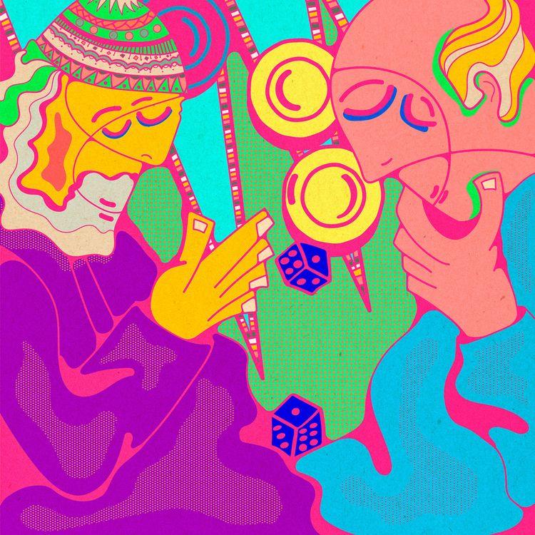 Backgammon - DigitalArt, Art, Illustration - tameem | ello