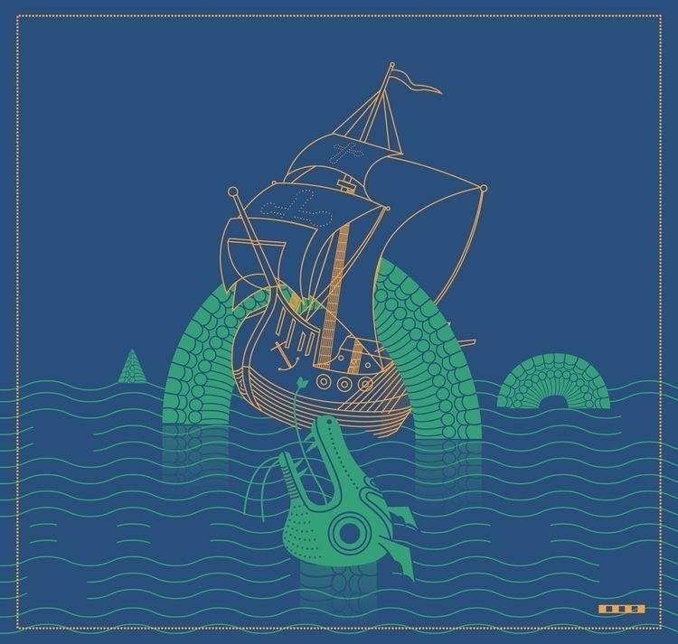 Water dragon - illustration, graphic - markograf | ello