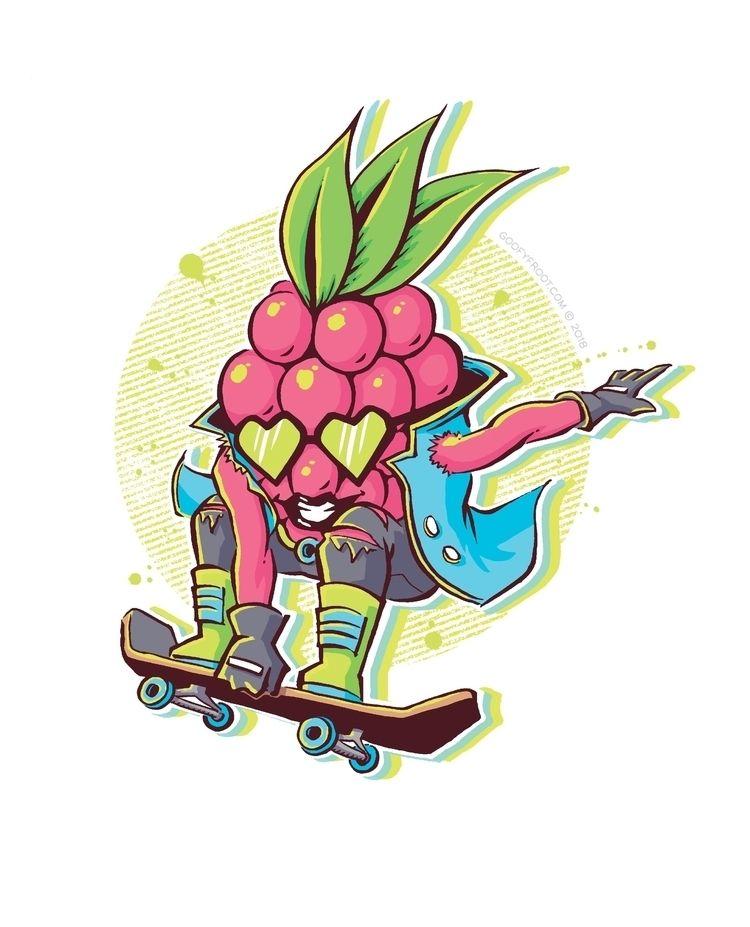 Rad Razzberry, Goofy Froot char - maxwell_inxx | ello