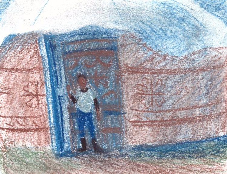 jurt. Paper, pastel - travel, sketch - eugeniakrutova | ello