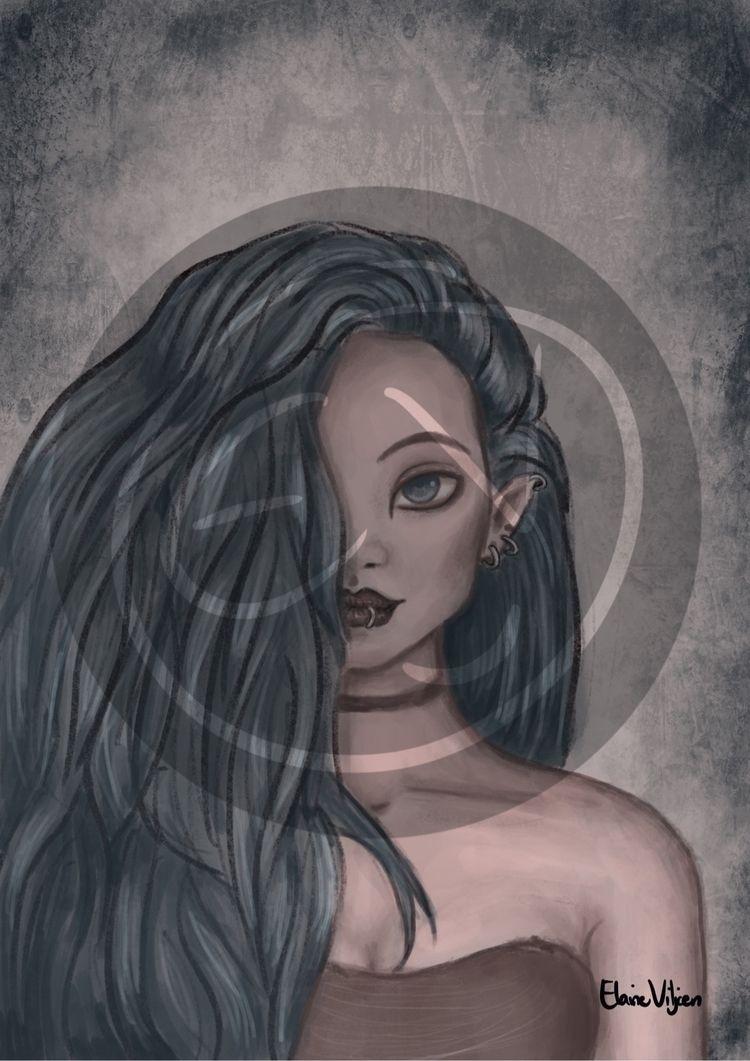 """NightElf"" art post , excited - illustration - elvidawn   ello"