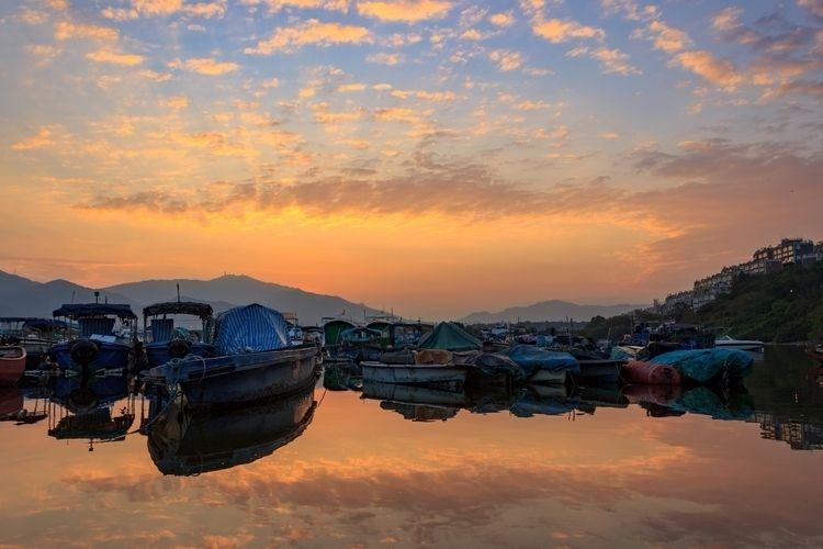 mirror sky traditional fishing  - kalongphoto | ello