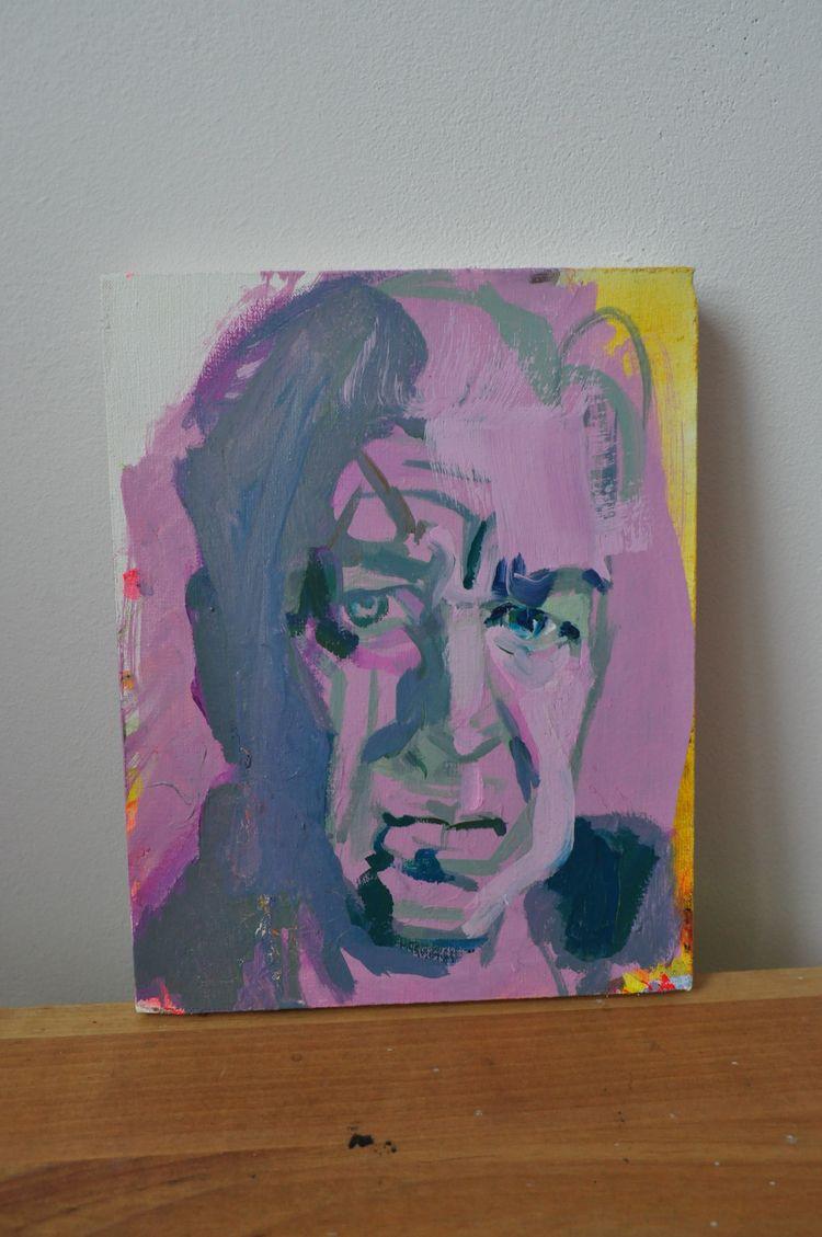David Lynch# portrait# oil canv - judytakrawczyk   ello