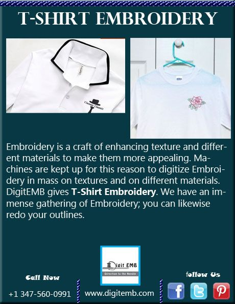 DigitEMB giving Embroidery. dig - tshirtembroidery | ello