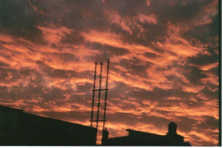 burning, sky, filmphotography - kashhj | ello