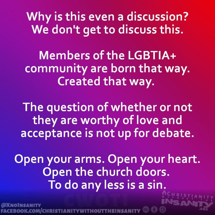 NotUpForDebate, Pride, Love - christianitywithouttheinsanity | ello