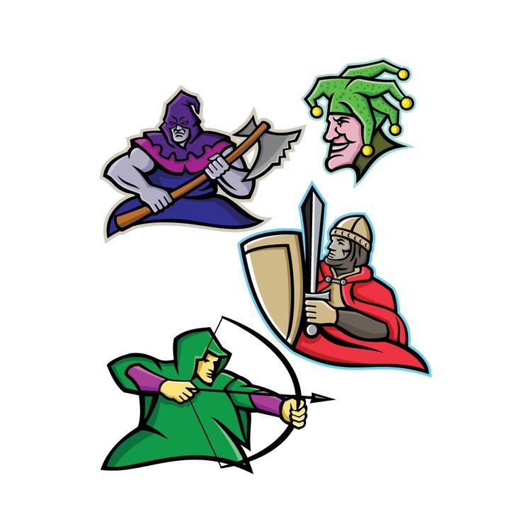 Medieval Court Character Mascot - patrimonio | ello