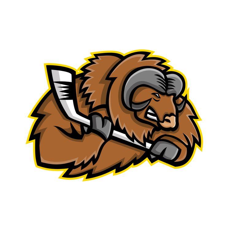 Musk Ox Ice Hockey Mascot - MuskOx - patrimonio | ello