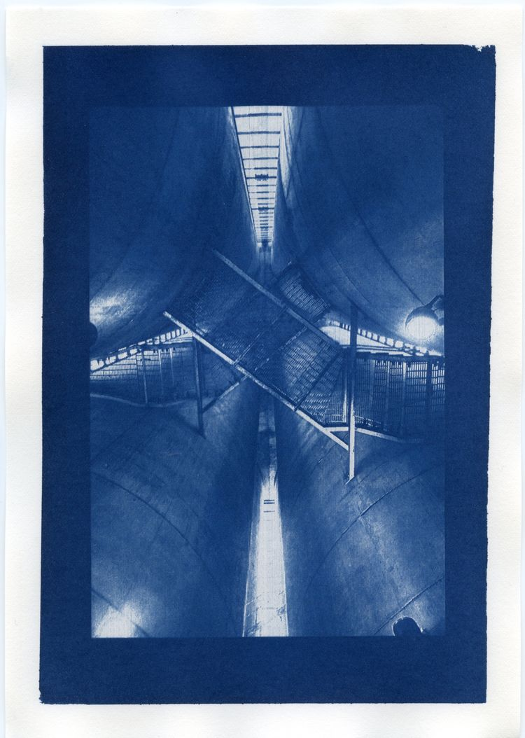 hand-coated cyanotype print - the_valcano | ello