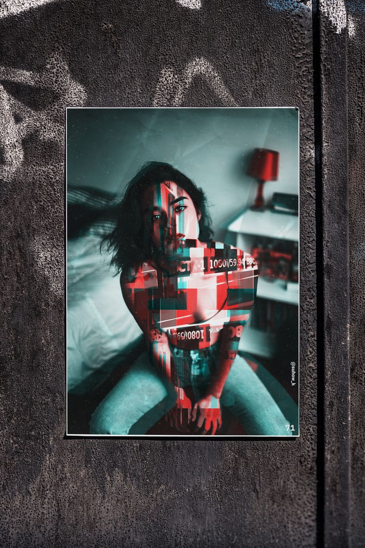 poster day №71 - glitch, glitchart - suhow_k | ello