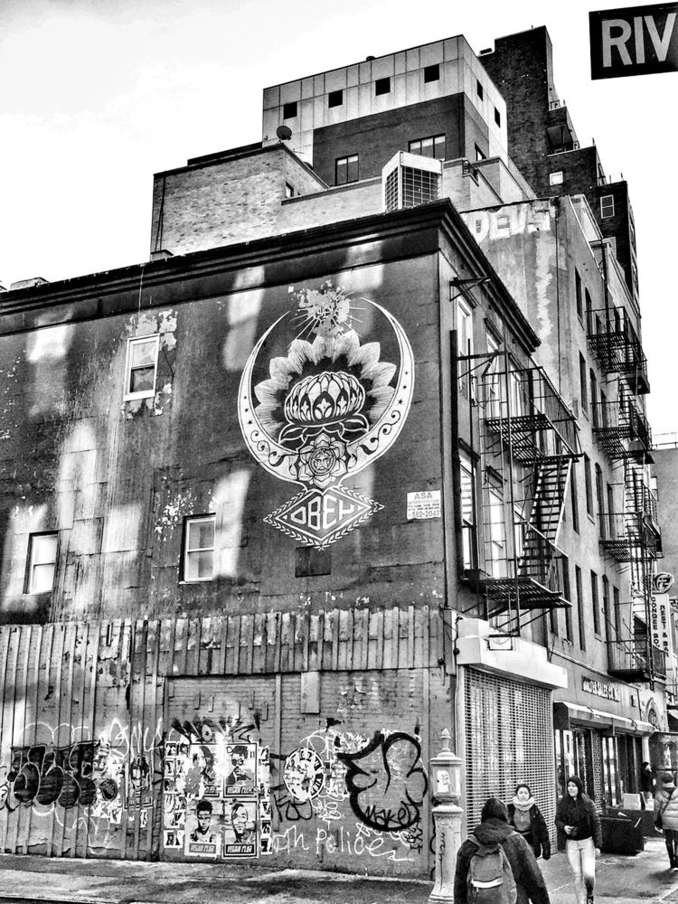 Shepard Fairey East Side York - obey - renspacemadness | ello