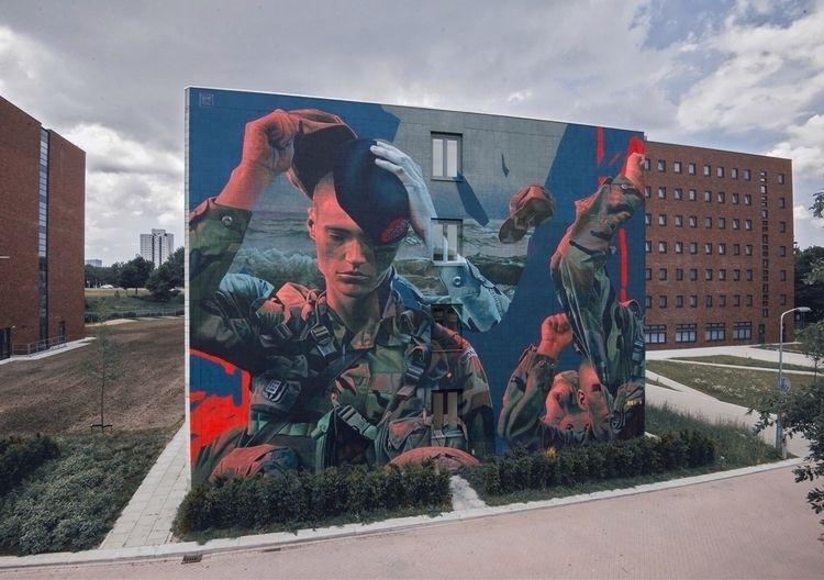 mural titled Qua Patet Orbis Wo - streetartunitedstates | ello