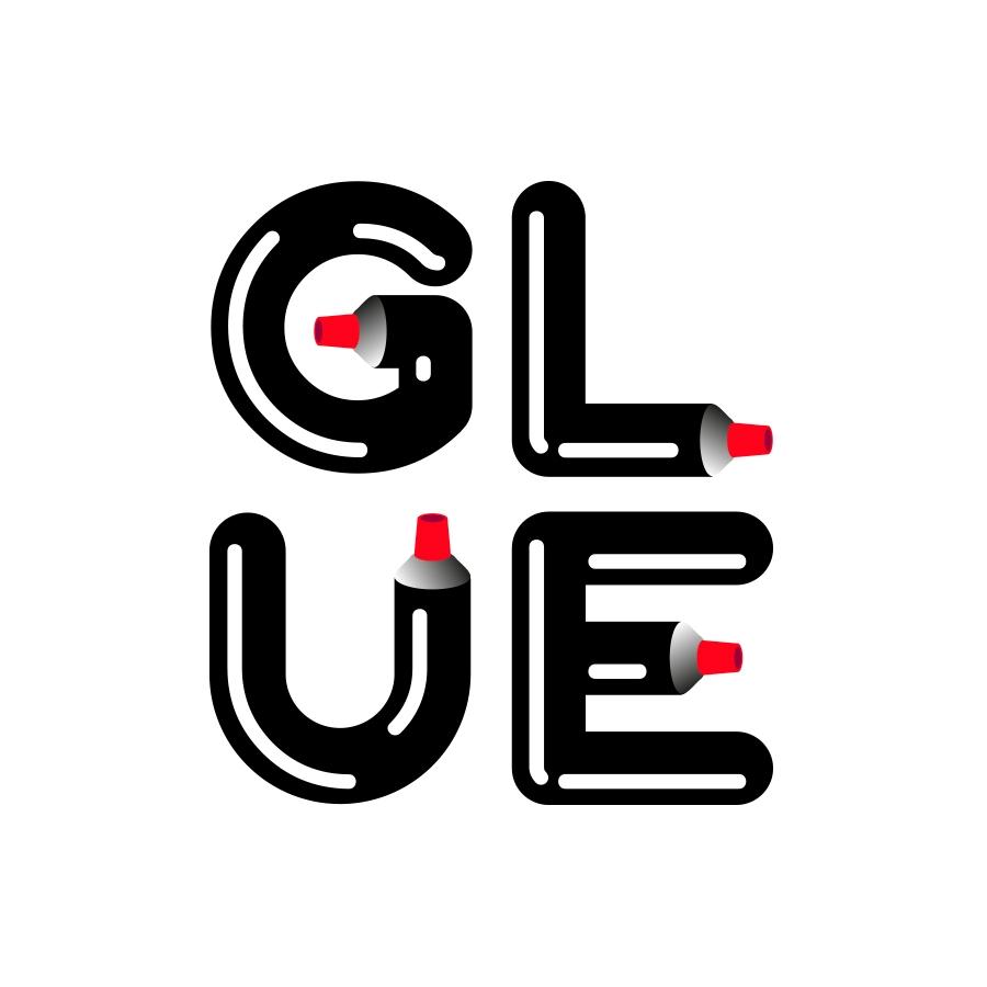 Glue typography - logo, logodesign - jiriadamek | ello
