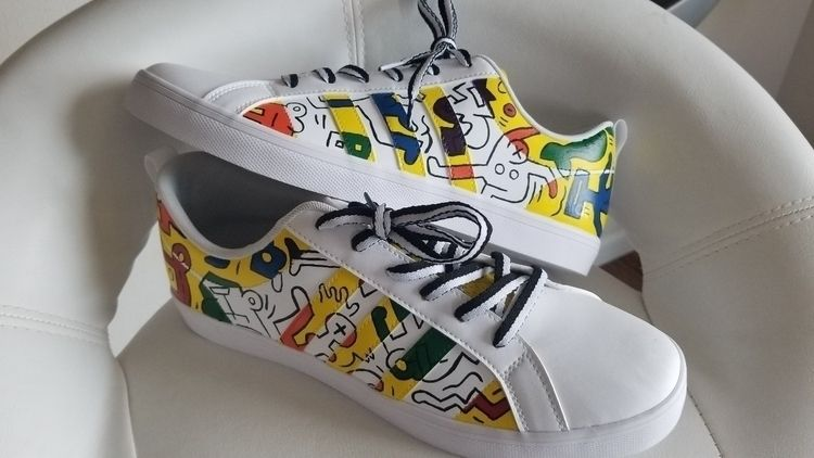 Keith Haring inspired Adidas - Keithharing - flythreadscustoms | ello