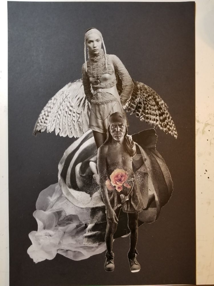 WIP inks - collage, collageart, penandink - curtispatrickarnold | ello