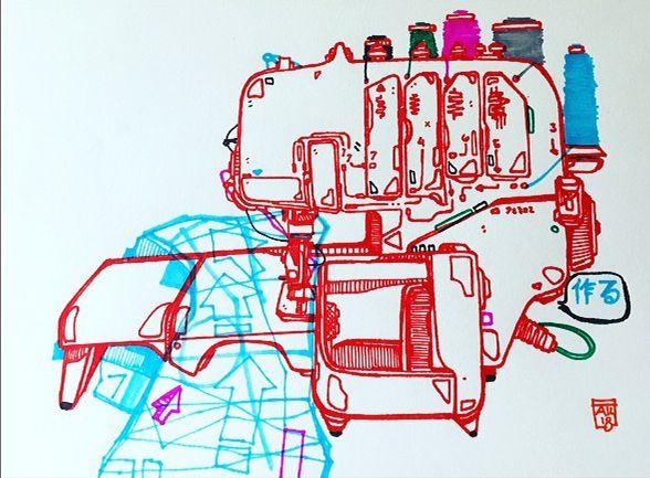 morning ink - sketchbook, illustration - aaronkraten | ello